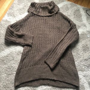 Thick knit cable sweater